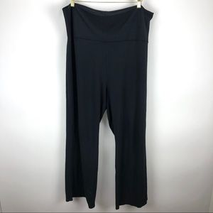 J Jill Roll Up Lounge Pants Black - Size XL